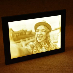 3D Lithophane in frame with LED